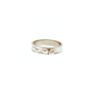 Love Letters Loyalty Sterling Silver Peal Stack Ring - Cynthia Gale New York Jewelry