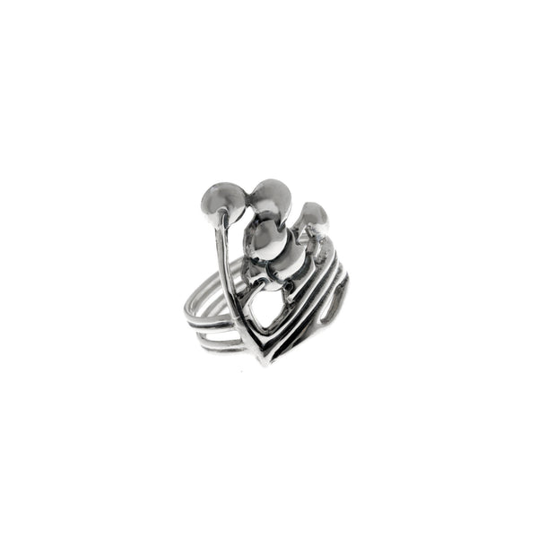 Belle Nouveau Beardsley Sterling Silver Ring - Cynthia Gale New York Jewelry