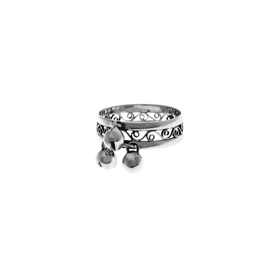 Belle Nouveau Tiffany Sterling Silver Ring - Cynthia Gale New York Jewelry