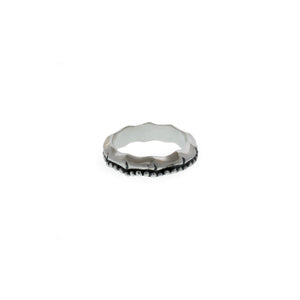 Fossil Bambu Sterling Silver Repousse Stack Ring - Cynthia Gale New York Jewelry