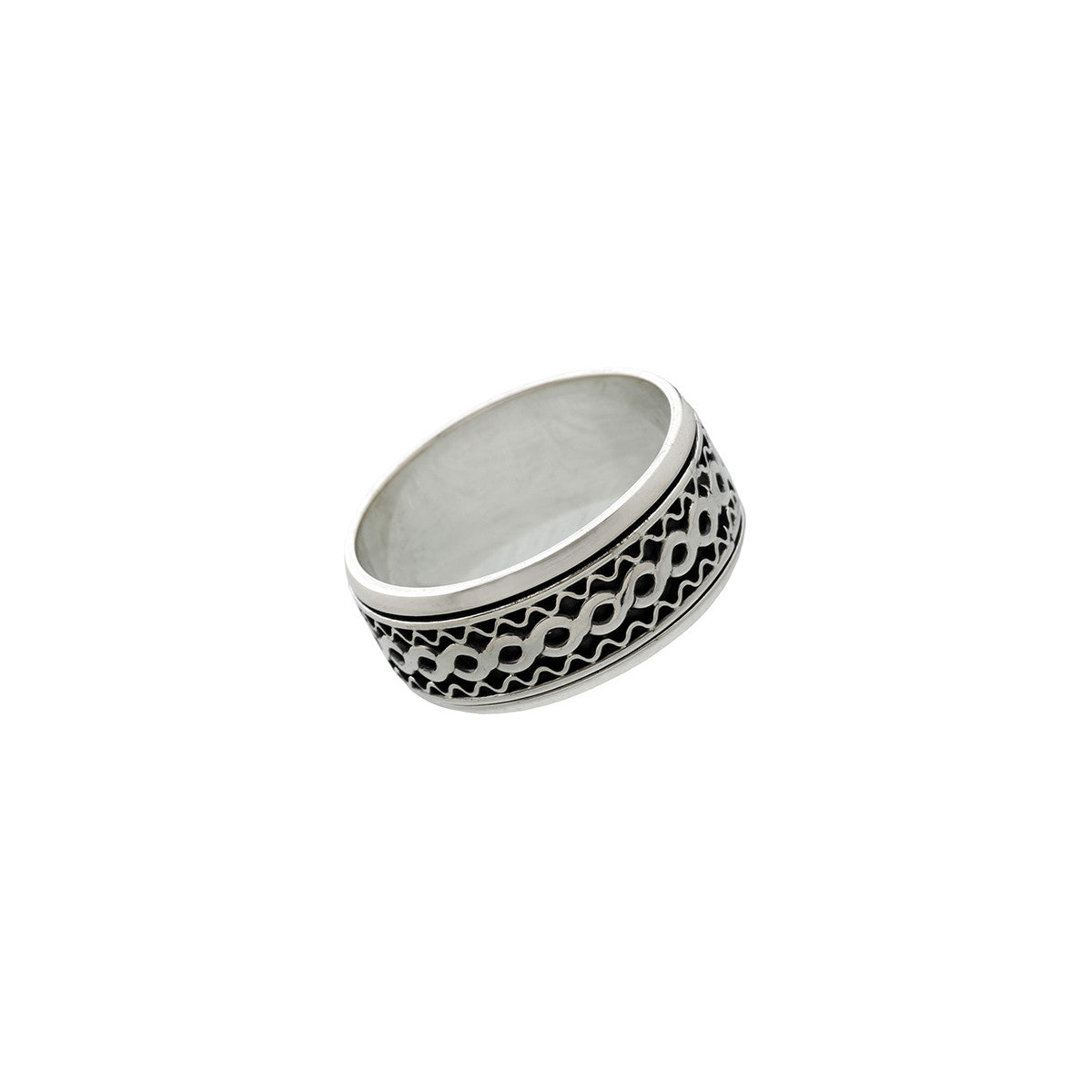 Alpha Infinity Sterling Silver Spin Ring - Cynthia Gale New York Jewelry