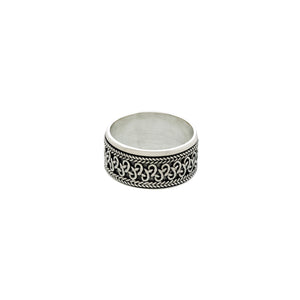 Beta Infinity Sterling Silver Spin Ring - Cynthia Gale New York Jewelry