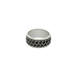 Gamma Infinity Sterling Silver Spin Ring - Cynthia Gale New York Jewelry