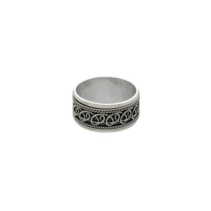 Delta Infinity Sterling Silver Spin Ring - Cynthia Gale New York Jewelry