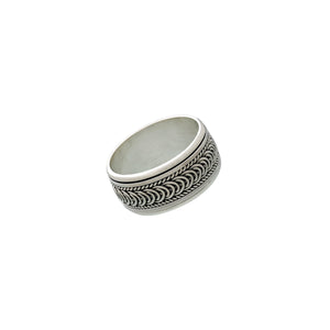 Sigma Infinity Sterling Silver Spin Ring - Cynthia Gale New York Jewelry
