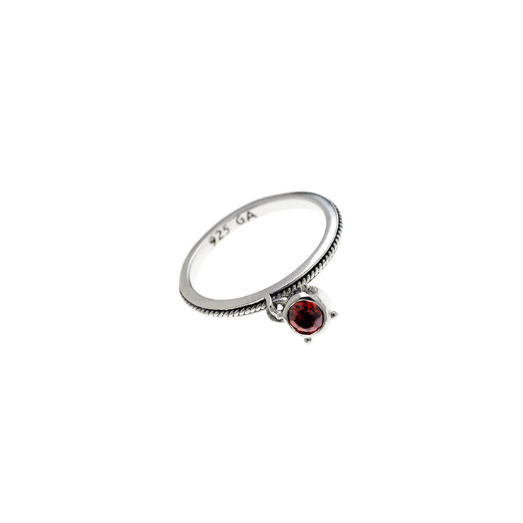 Kamon Sterling Silver And Birthstone Stack Ring - Cynthia Gale New York Jewelry