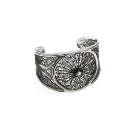 Ca D'zan Sunset Sterling Silver Open Work Cuff - Cynthia Gale New York Jewelry
