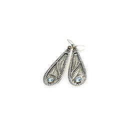 Ca D'zan Sunset Sterling Silver Blue Topaz Teardrop Earring - Cynthia Gale New York Jewelry