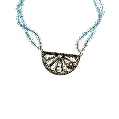 Ca D'zan Sunset Sterling Silver Blue Topaz Necklace - Cynthia Gale New York Jewelry
