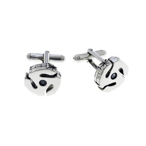45 RPM Spacer Sterling Silver Cufflink - Cynthia Gale New York Jewelry