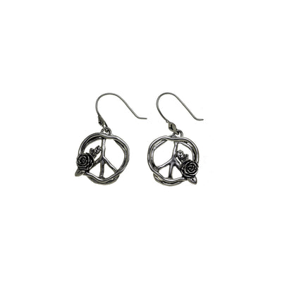 Imagine Peace Sterling Silver Drop earring - Cynthia Gale New York Jewelry