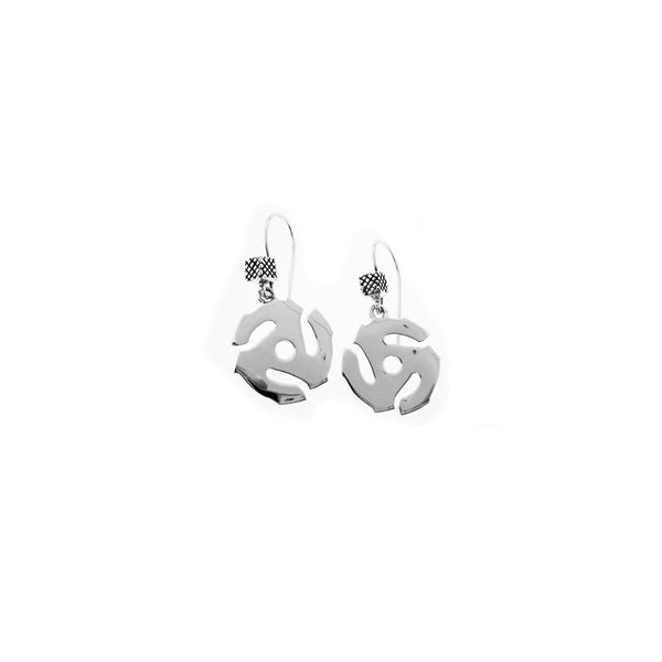 45 RPM Spacer Sterling Silver Drop Earring - Cynthia Gale New York Jewelry