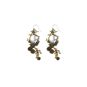 Revolution Dove Sterling Silver Bronze Drop Earring - Cynthia Gale New York Jewelry