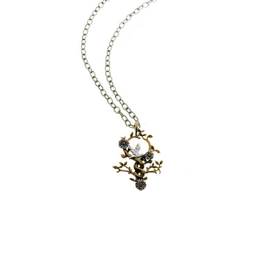 Revolution Dove Sterling Silver Bronze Necklace - Cynthia Gale New York Jewelry