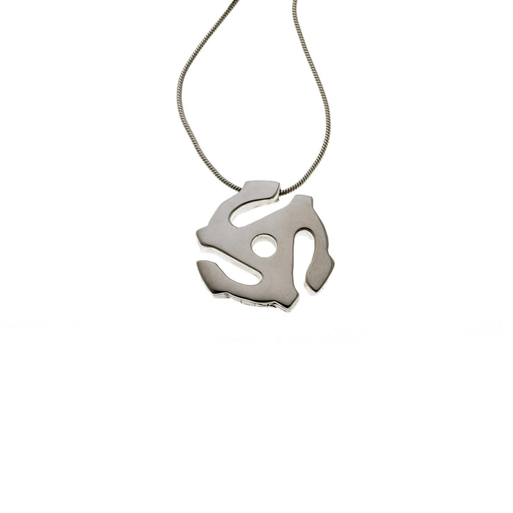 45 RPM Spacer Sterling Silver Long Necklace - Cynthia Gale New York Jewelry