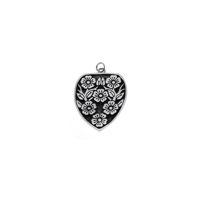 Ceremonial Kamon Sterling Silver Cherry Blossom Charm - Cynthia Gale New York Jewelry