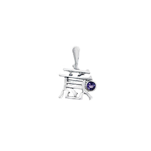 Hanzi Generosity February Sterling Silver Amethyst Necklace - Cynthia Gale New York Jewelry