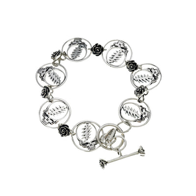 Steal Your Face Sterling Silver Bracelet - Cynthia Gale New York - 1