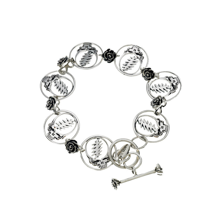 Steal Your Face Sterling Silver Bracelet - Cynthia Gale New York Jewelry