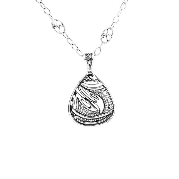 Belle Nouveau Teardrop Sterling Silver Necklace - Cynthia Gale New York Jewelry