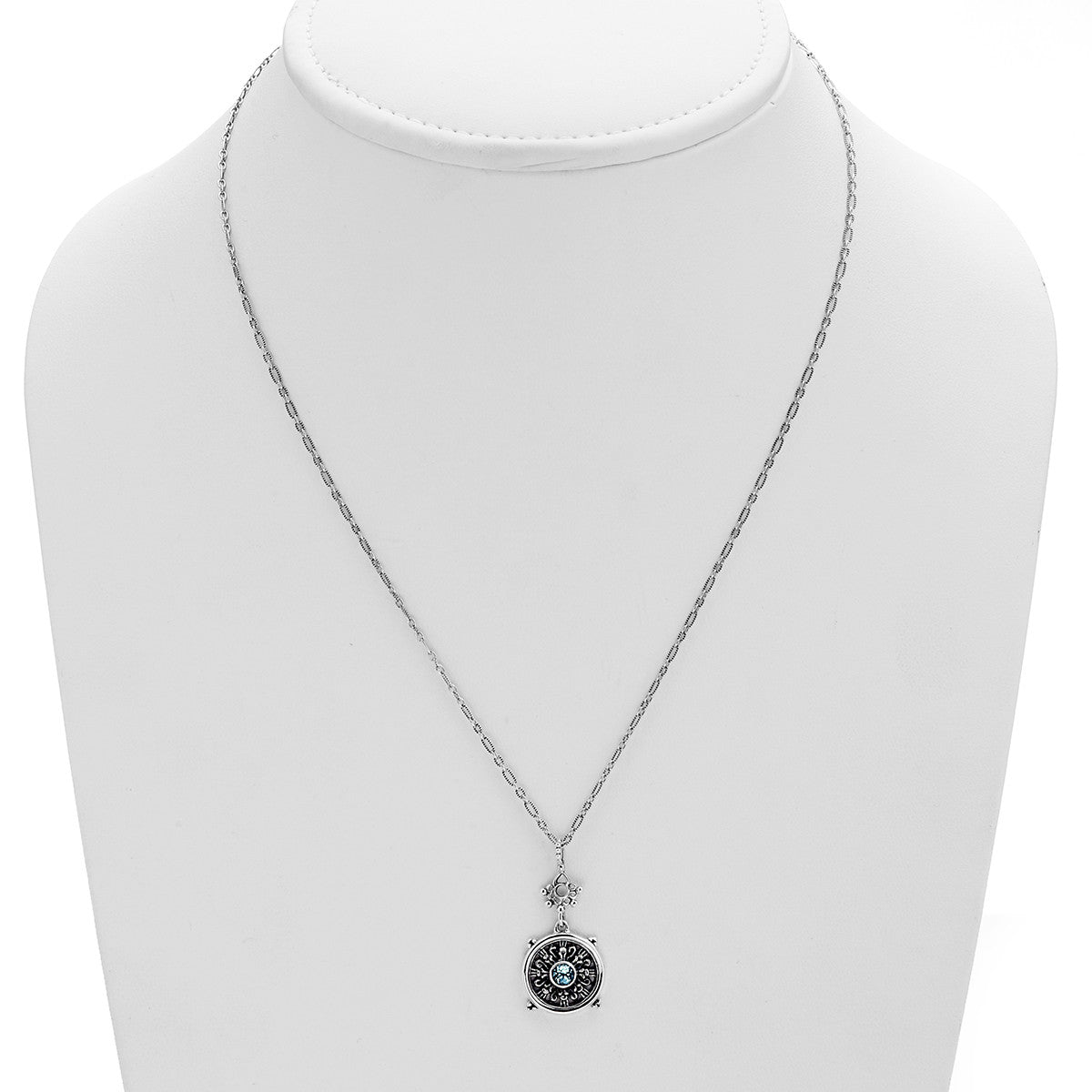 Dharmachakra sterling silver blue topaz grace necklace cynthia dharmachakra sterling silver blue topaz grace necklace cynthia gale new york aloadofball Choice Image