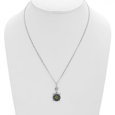Dharmachakra Sterling Silver Peridot Grace Necklace - Cynthia Gale New York Jewelry