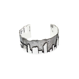 New York Skyline Sterling Silver Cuff - Cynthia Gale New York Jewelry