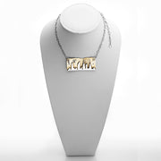 NYC Skyline The City That Never Sleeps Sterling Silver Brass Necklace - Cynthia Gale New York - 2