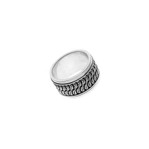 Nusantara Madura Sterling Silver Spin Ring - Cynthia Gale New York Jewelry