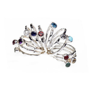 Mod Pod Sterling Silver Birthstone Stack Ring - Cynthia Gale New York - 1