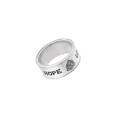 Love/Hope/Faith Sterling Silver Spin Ring - Cynthia Gale New York Jewelry