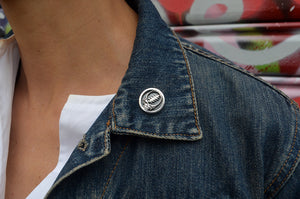 Steal Your Face Sterling Silver Pin