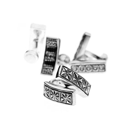 Wiener Werkstatte Pinwheel Cufflinks - Cynthia Gale New York Jewelry