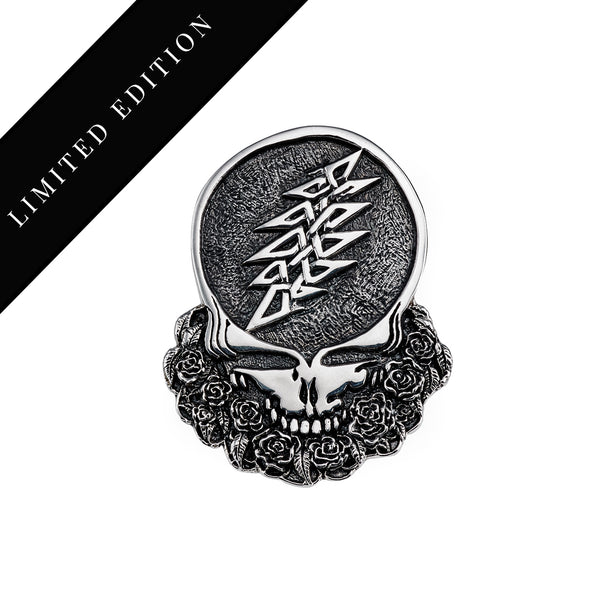 Limited Edition - Cornell '77 - Steal Your Face Sterling Silver Belt Buckle