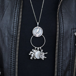 Limited Edition - Cornell '77 - Steal Your Face Sterling Silver Charm Catcher Necklace
