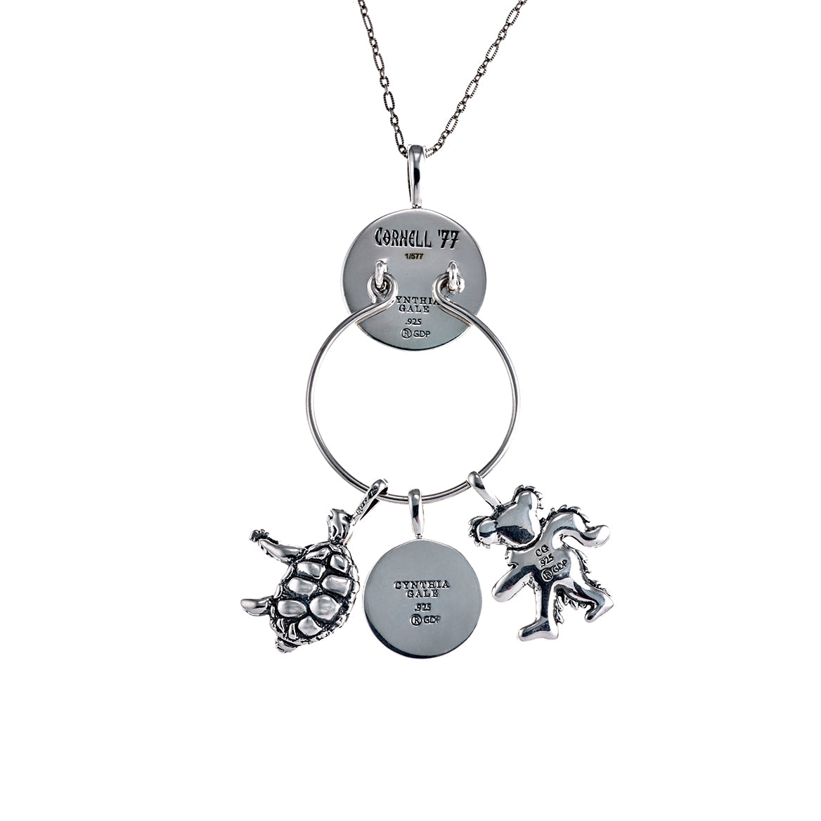 Cornell 77 Steal Your Face Sterling Silver Charm