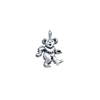 Dancing Bear Sterling Silver Charm