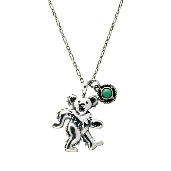 Birthstone Bear Necklaces Sterling Silver And Semi-precious Stones