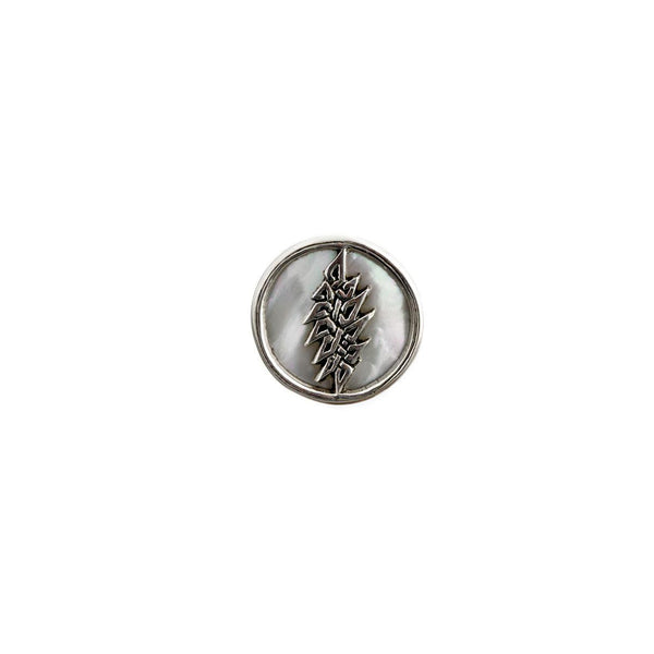 13-Point Lightning Bolt Sterling Silver Pin