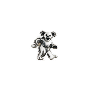 Dancing Bear Sterling Silver Pin