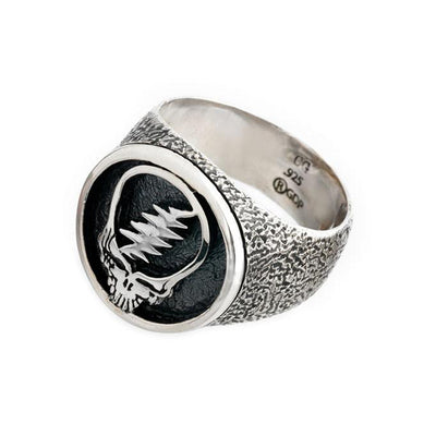 Steal Your Face Sterling Silver Signet Ring
