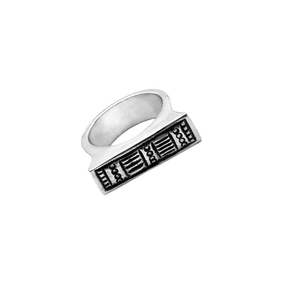 Wiener Werkstatte Line Out Stack Ring - Cynthia Gale New York Jewelry