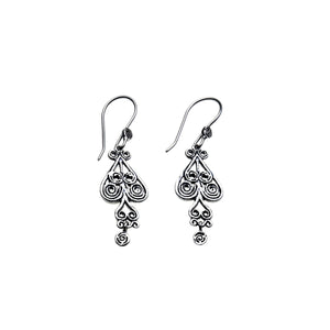 Barnes Metalwork Heart Sterling Silver Earrings - Cynthia Gale New York Jewelry