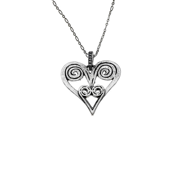 Barnes Metalwork Heart Sterling Silver Necklace - Cynthia Gale New York Jewelry