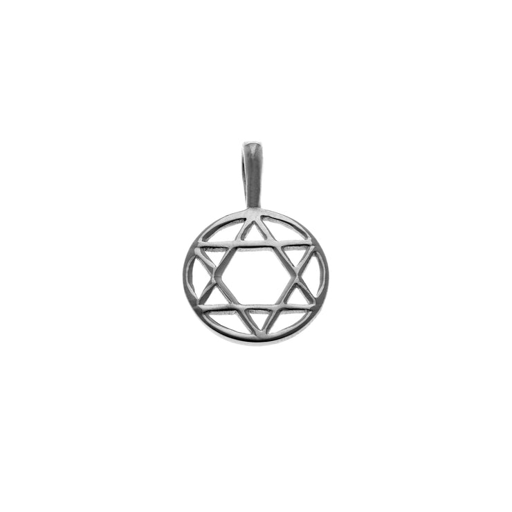 Star Of David Hexagram Sterling Silver Charm