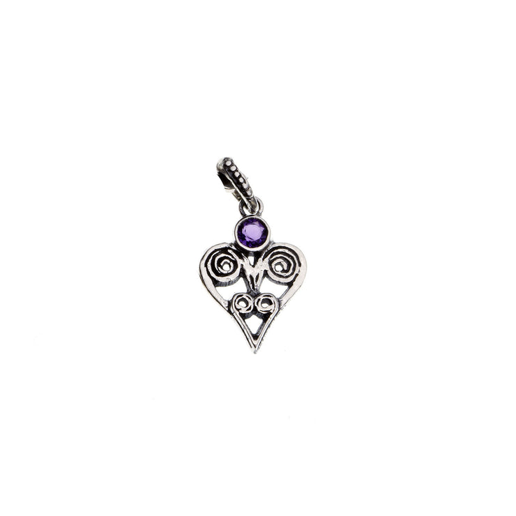 Barnes Metalwork Birthstone Sterling Silver Heart Charm - Cynthia Gale New York - 5