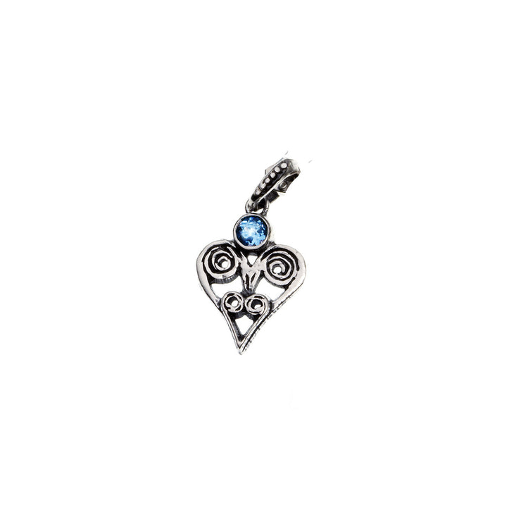 Barnes Metalwork Birthstone Sterling Silver Heart Charm - Cynthia Gale New York - 6