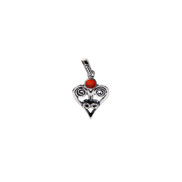 Barnes Metalwork Birthstone Sterling Silver Heart Charm - Cynthia Gale New York - 10