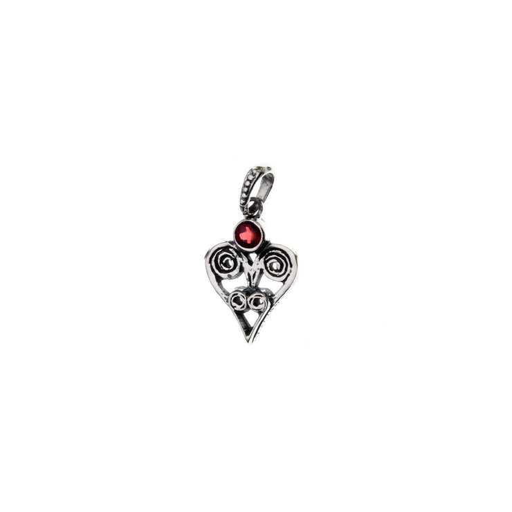 Barnes Metalwork Birthstone Sterling Silver Heart Charm - Cynthia Gale New York - 4