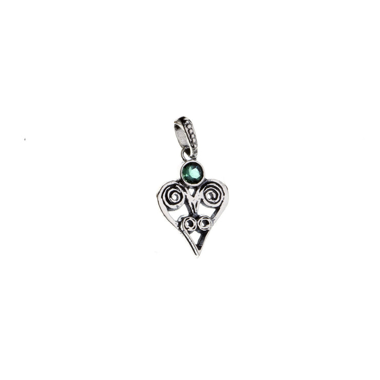Barnes Metalwork Birthstone Sterling Silver Heart Charm - Cynthia Gale New York - 8